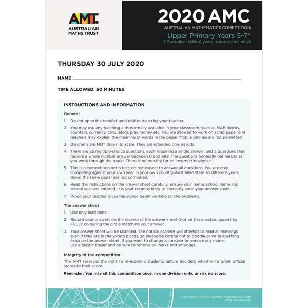 AMC 2020 Upper Primary