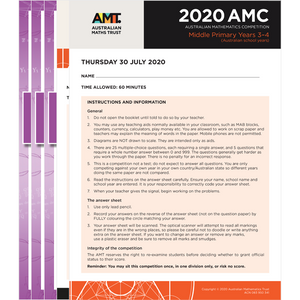 AMC Middle Primary 5-year pack