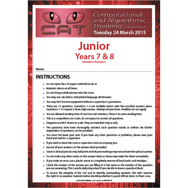CAT 2015 Junior