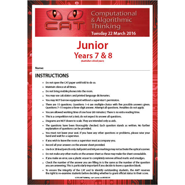 CAT 2016 Junior