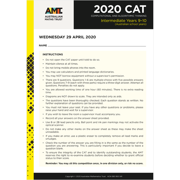 CAT 2020 Intermediate