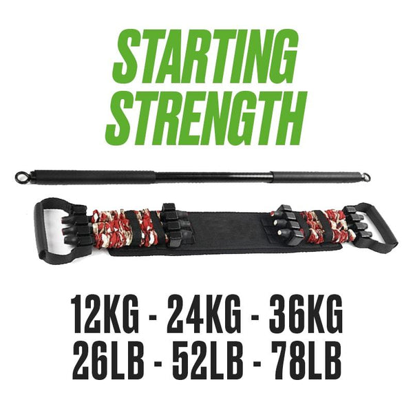 Gromoto Resistance Band & Bar (50% Off)