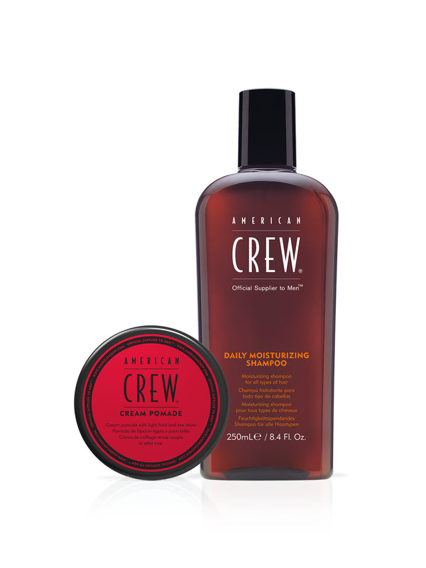 CREAM POMADE AND DAILY MOISTURIZING SHAMPOO GIFT SET
