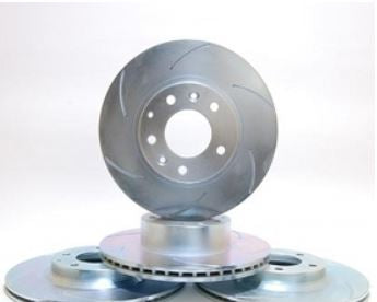 Full Brake Rotor Set/Curved Slots/RX8