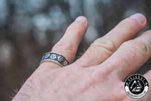 Our Valknut Ring, 925 Sterling Silver. Unique Viking Jewelry. VALKNUT viking & Norse Fashion.