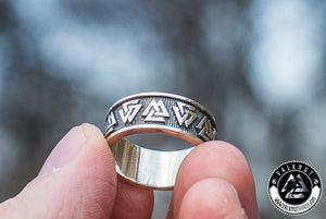 Our Valknut Ring for the modern-day viking. Unique Viking Jewelry from VALKNUT viking & Norse Fashion.