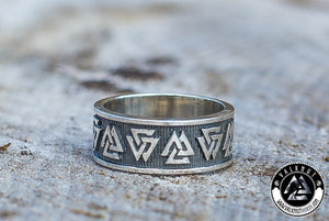 Our Valknut Ring for the modern-day viking. An exclusive creation from our modern-day Viking craftsmen.