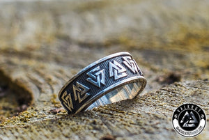 Odin's Knot Valknut Ring, 925 Sterling Silver. VALKNUT viking & Norse Fashion.