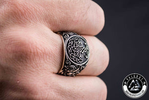 The Mighty Tree Of Life - Yggdrasil Ring, 925 Sterling Silver