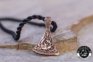 Fearless Spirit - Viking Axe Pendant, Bronze