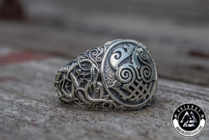 Odin's Powerful Eight-Legged Horse - Sleipnir Ring, 925 Sterling Silver