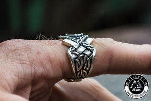 The Runic Compass - Vegvísir Ring, 925 Sterling Silver