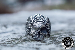 Legendary Odin Ring with Valknut Symbol, 925 Sterling Silver
