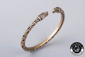 Four Eyed Dragon Arm Ring, Bronze