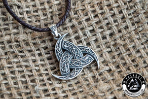 The Triple Horn of Odin - Wisdom & Poetic Inspiration Amulet Pendant, 925 Sterling Silver
