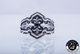 Viking Legend Ring with Sapphire Cubic Zirconia, 925 Sterling Silver