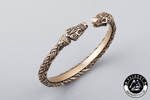 Four Eyed Wolf Arm Ring, Bronze