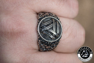 Infinite Strength - Odin's Knot Valknut Ring, 925 Sterling Silver
