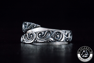 Norse Poetry Ring, 925 Sterling Silver