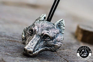 Norse Wolf Pendant, 925 Sterling Silver