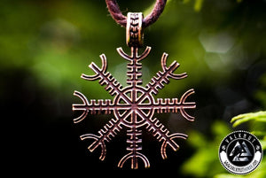 The Helm Of Awe Pendant, Bronze