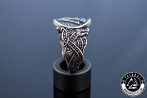The Sacred Cycle Of Life - Valknut Ring, 925 Sterling Silver
