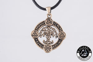 The Mythical Tree Of Life - Yggdrasil Pendant, Bronze