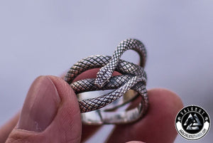 Snake Bite Ring, 925 Sterling Silver