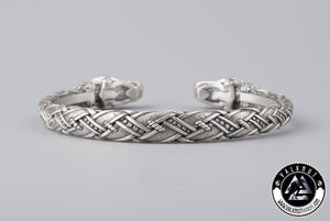 Four Eyed Wolf Arm Ring, 925 Sterling Silver