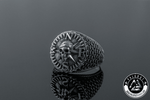 Savage Skull Ring, 925 Sterling Silver