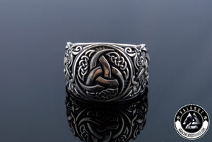 Poetic Inspiration - Odin's Triple Horn Ring, 925 Sterling Silver