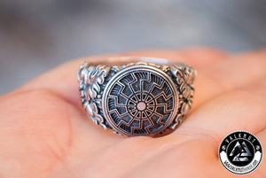 Black Sun Ring, 925 Sterling Silver