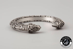 Odin's Ravens Huginn & Munin Arm Ring, Pewter