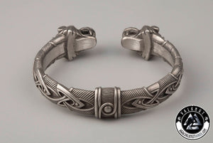 Four Eyed Wolf Arm Ring, Pewter