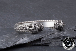 The Midgard Serpent Jormungandr Arm Ring, Pewter
