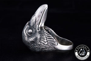 Raven Ring, 925 Sterling Silver