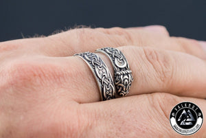Mythical Ouroboros Ring, 925 Sterling Silver