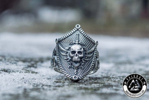 Wild Pirate Skull Ring, 925 Sterling Silver