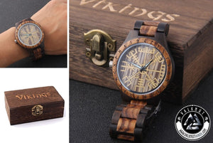 Water Proof Viking Wooden Watch