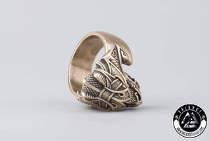 The Midgard Serpent Jörmungandr Ring, Bronze