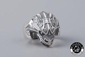 The Midgard Serpent Jörmungandr Ring, Silver Plated Bronze