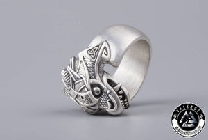 The Midgard Serpent Jörmungandr Ring, 925 Sterling Silver