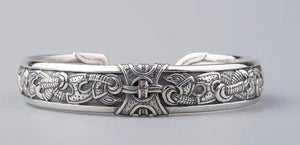 Traditional Viking Arm Ring, 925 Sterling Silver