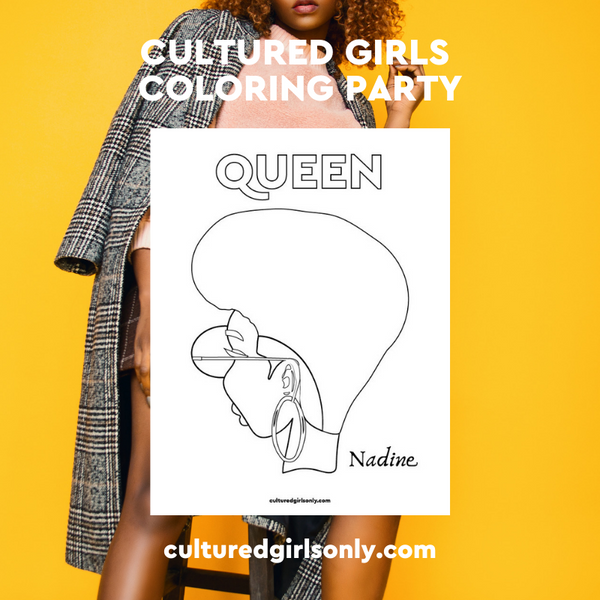 Cultured Girls Only Hosts Its First Event and It's A Coloring Party