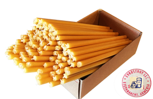 "ARTSAKH 100/200 Candles 8"" Inch All Natural Bee-Wax Church Candles (8"" x 5/16"" Inch) Natural Honey Cent, Total Wt (100) 2 Lb or 907 gr."
