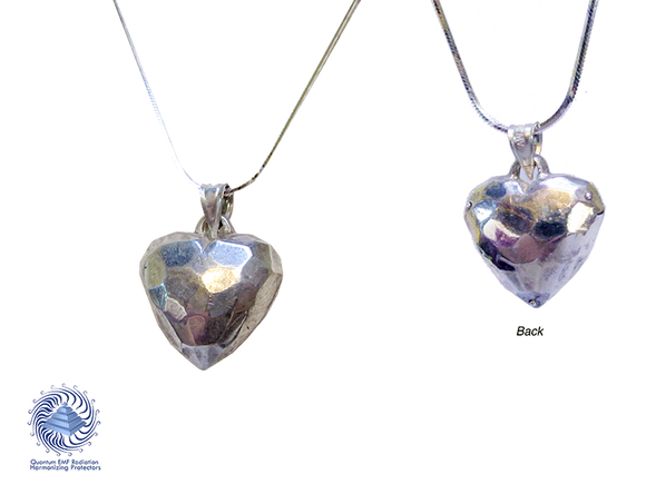 Faceted Live HEART Pendent 925 Ag Silver 20 x 25 mm Heart  with 23