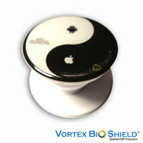 Yin Yan Quantum EMF Protector Pop Up Grip Black By Vortex Bioshield