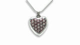 "Flower of Live HEART Pendent 925 Ag Silver 25 x 30mm Heart  with 23"" Silver Chain"