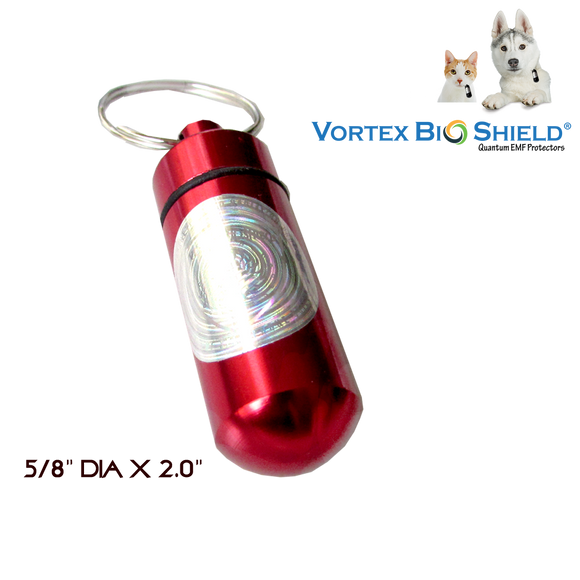 Pets TransViber®  / Key Fob Quantum EMF Protectors For Pets & Key RED