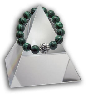 New Product - EMF Radiation Harmonizing Bracelet - Natural Malachite - Quantum EMF Protectors
